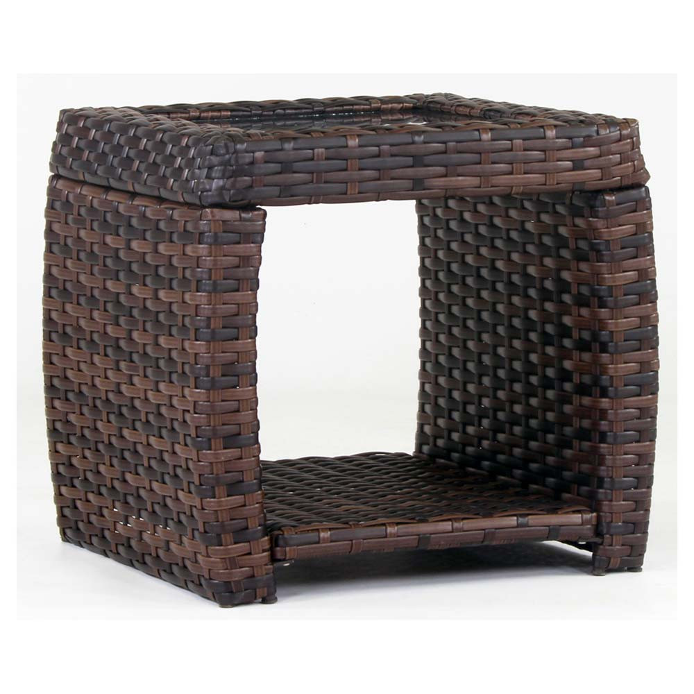 Wicker Coffee Table And End Tables: South Sea Rattan Huntington Wicker End Table